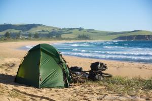 Australien_Zelt am Strand
